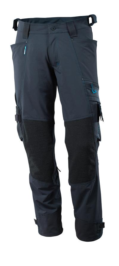 MASCOT® ADVANCED - ciemny granat - Spodnie z kieszeniami na kolanach Kevlar®/Dyneema® , czterokierunkowy strecz, lekka waga.