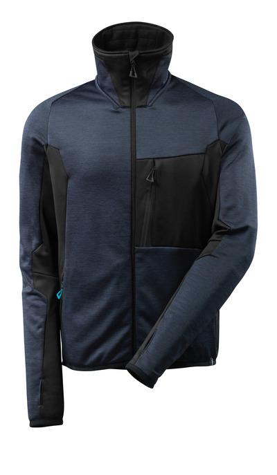 MASCOT® ADVANCED - ciemny granat/czerń - Bluza polarowa z zamkiem błyskawicznym, nowoczesny krój