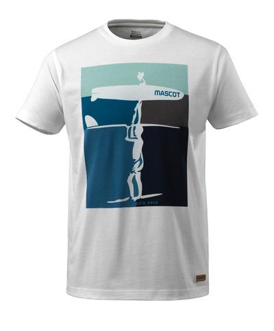 MASCOT® ADVANCED - biel - T-Shirt z motywem surferskim, nowoczesny krój