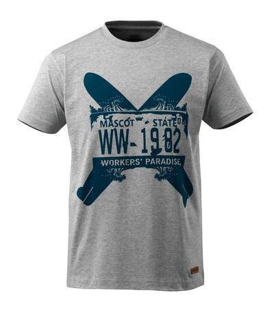 MASCOT® ADVANCED - szary nakrapiany - T-Shirt z dwiema deskami surfingowymi, nowoczesny krój