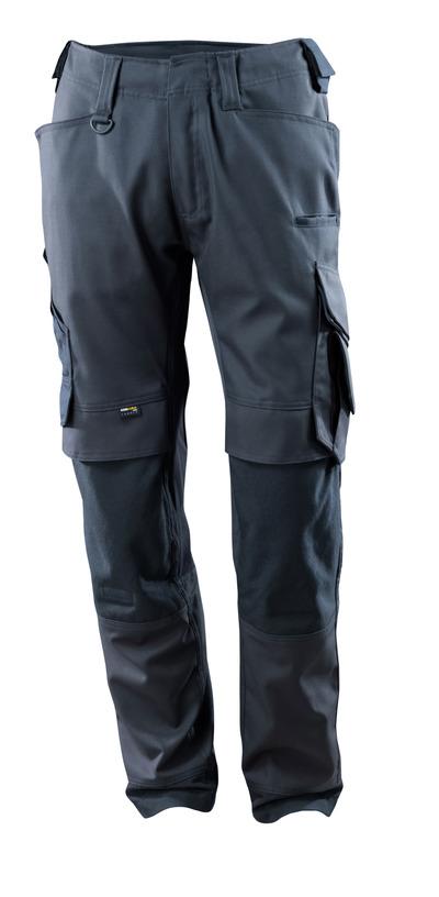 MASCOT® Adra - ciemny granat - Spodnie z kieszeniami CORDURA® na kolanach, panele streczowe, wysoka odporność na zużycie