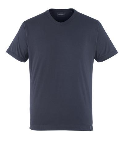 MASCOT® Algoso - ciemny granat - T-Shirt, mały dekolt V, nowoczesny krój
