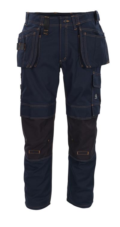 MASCOT® Almada - ciemny granat - Spodnie z kieszeniami CORDURA® na kolanach i kieszeniami wiszącymi, wysoka odporność na zużycie