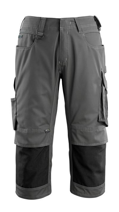 MASCOT® Altona - ciemny antracyt/czerń - Spodenki ¾ z kieszeniami CORDURA® na kolanach, niska waga