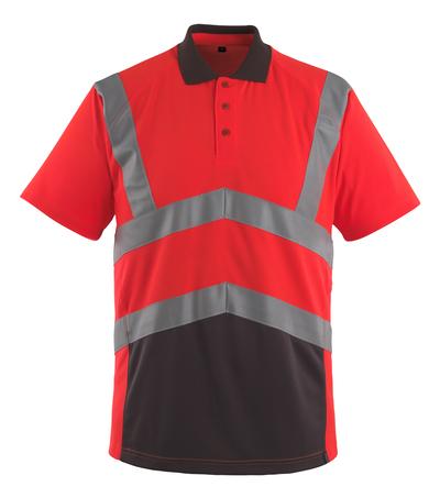 MASCOT® Anadia - czerwień hi-vis/ciemny antracyt - Koszulka polo, nowoczesny krój, klasa 2