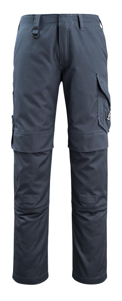 MASCOT® Arosa - ciemny granat - Spodnie z kieszeniami na kolanach, odporność na zabrudzenia, wszechstronna ochrona