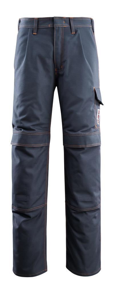 MASCOT® Bex - ciemny granat - Spodnie z kieszeniami na kolanach, wszechstronna ochrona