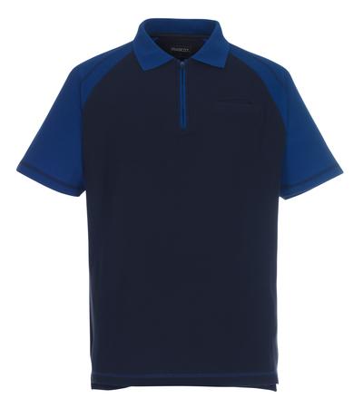 MASCOT® Bianco - granat/niebieski - Koszulka polo z zamkiem błyskawicznym, klasyczny krój, kieszeń na piersi