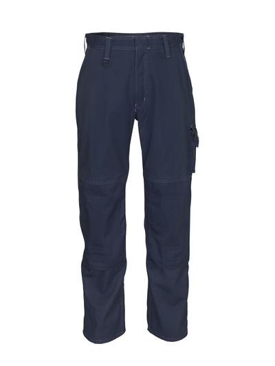 MASCOT® Biloxi - ciemny granat - Spodnie z kieszeniami na kolanach, bawełna