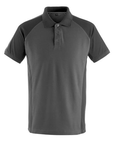 MASCOT® Bottrop - ciemny antracyt/czerń - Koszulka polo, nowoczesny krój