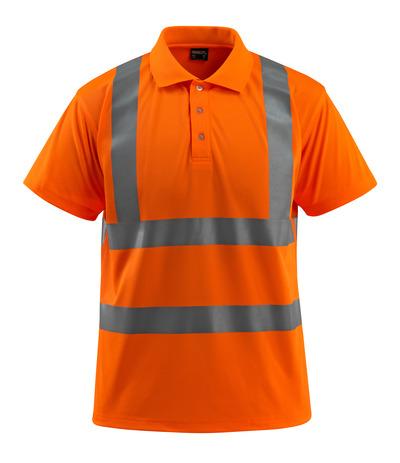 MASCOT® Bowen - pomarańcz hi-vis  - Koszulka polo, klasyczny krój, klasa 2