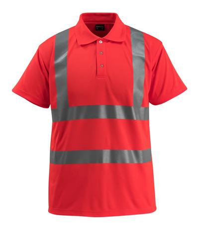 MASCOT® Bowen - czerwień hi-vis - Koszulka polo, klasyczny krój, klasa 2