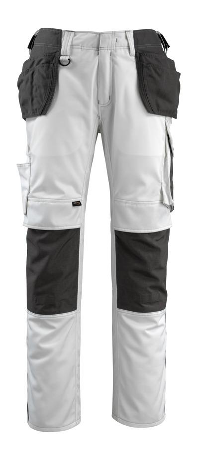 MASCOT® Bremen - biel/ciemny antracyt - Spodnie dla Rzemieślników