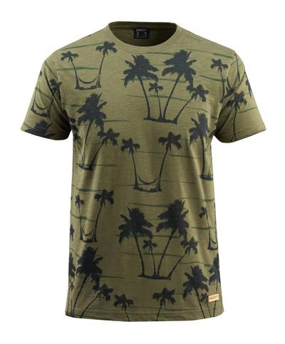 MASCOT® Bushwick - zielony mech* - T-Shirt