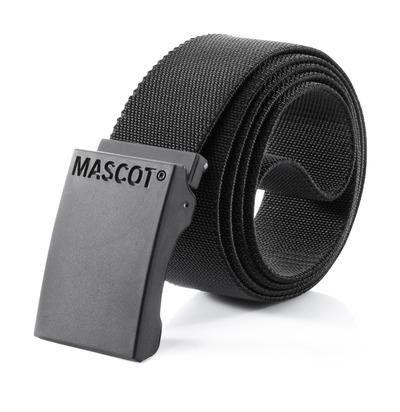 MASCOT® COMPLETE - czerń - Pasek z regulowaną klamrą, elastyczny materiał