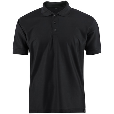MASCOT® CROSSOVER - czerń - Koszulka polo, odprowadzający wilgoć materiał CoolDry, nowoczesny krój