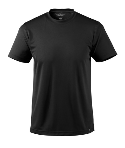 MASCOT® CROSSOVER - czerń - T-Shirt, odprowadzający wilgoć materiał CoolDry, nowoczesny krój