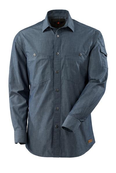 MASCOT® CROSSOVER - sprany ciemno niebieski denim - Koszula splot chambray.