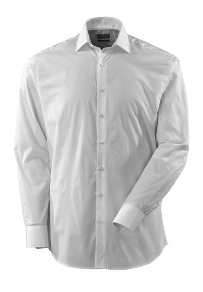 MASCOT® CROSSOVER - biel - Koszula spolt popelina, klasyczny krój, długie rękawy.