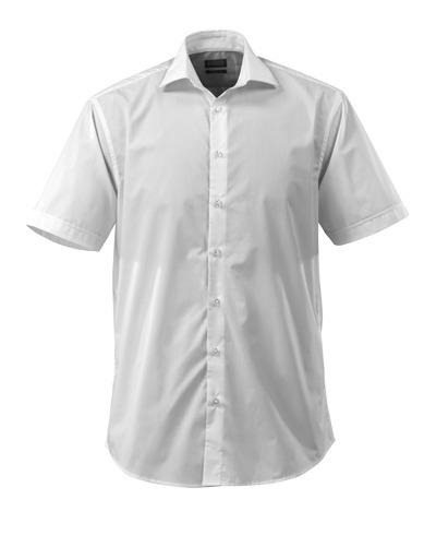 MASCOT® CROSSOVER - biel - Koszula, z krótkimi rękawami, popelina, klasyczny krój