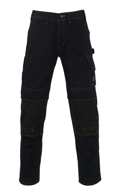 MASCOT® Calvos - czerń - Spodnie z kieszeniami CORDURA® na kolanach, wysoka odporność na zużycie