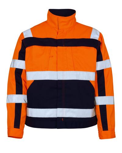 MASCOT® Cameta - pomarańcz hi-vis/granat - Kurtka, wysoka odporność na zużycie, klasa 2