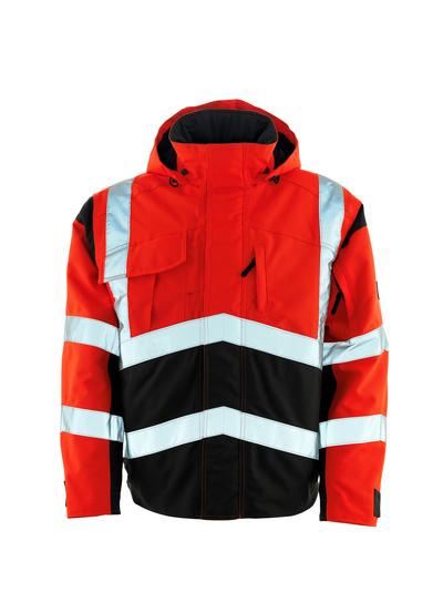 MASCOT® Camina - czerwień hi-vis/ciemny antracyt - Kurtka pilotka z pikowaną podszewką, wodoszczelny MASCOTEX®, klasa 2