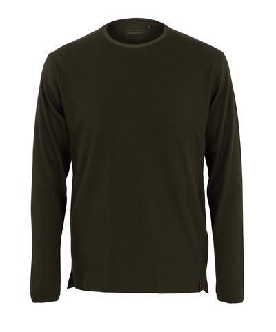 MASCOT® Crato - ciemna oliwka* - T-shirt, z długimi rękawami