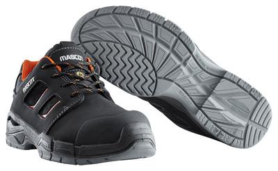MASCOT® Diran - czerń/ciemny pomarańcz - Obuwie ochronne S3 ze sznurowadłami