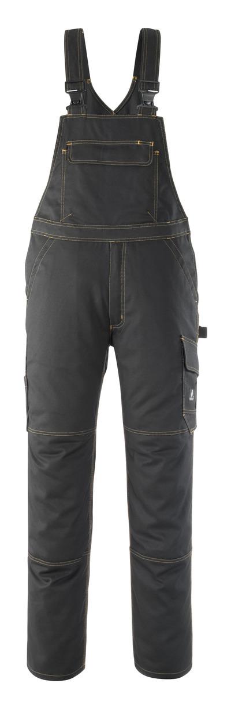 MASCOT® Elvas - czerń - Spodnie Ogrodniczki