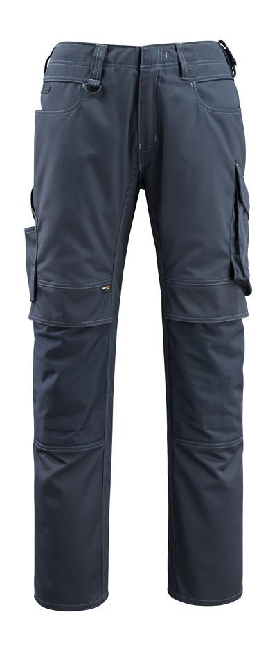 MASCOT® Erlangen - ciemny granat - Spodnie z kieszeniami CORDURA® na kolanach, wysoka odporność na zużycie