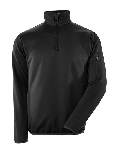 MASCOT® Estela - czerń/ciemny antracyt - Bluza polo z zamkiem błyskawicznym, nowoczesny krój, odprowadzająca wilgoć