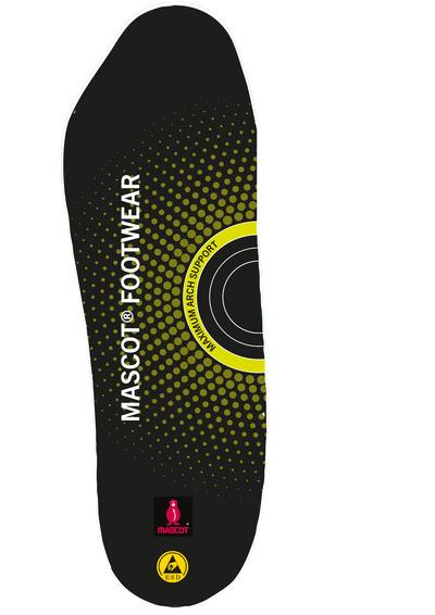 MASCOT® FOOTWEAR - czerń - Wkładki do butów z właściwościami amortyzującymi, maksymalne podparcie podbicia