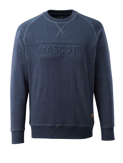 MASCOT® FREESTYLE - sprany ciemno niebieski denim - Bluza z wyciśniętym napisem MASCOT.