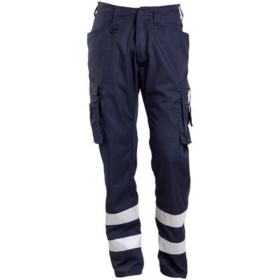 MASCOT® FRONTLINE - ciemny granat - Spodnie z kieszeniami na udach, paski odblaskowe, bardzo niska waga