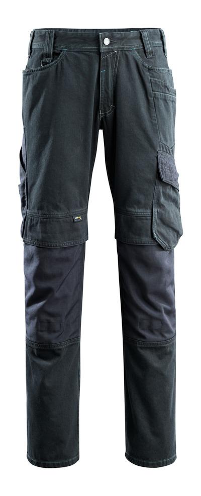 MASCOT® Ferrol - ciemno niebieski denim - Dżinsy z kieszeniami na kolanach, wyjątkowo wysoka trwałość