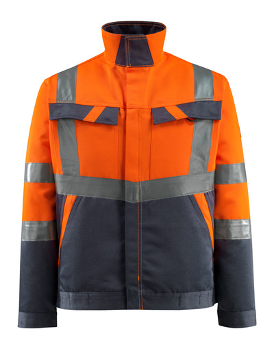 MASCOT® Forster - pomarańcz hi-vis/ciemny granat - Kurtka, niska waga, klasa 2