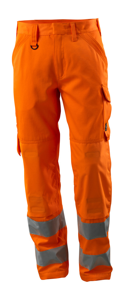 MASCOT® Geraldton - pomarańcz hi-vis  - Spodnie z kieszeniami na kolanach, jeden kolor, klasa 2.