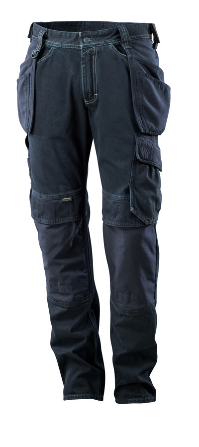 MASCOT® HARDWEAR - ciemno niebieski denim - Dżinsy z kieszeniami wiszącymi, ekstra wytrzymałe
