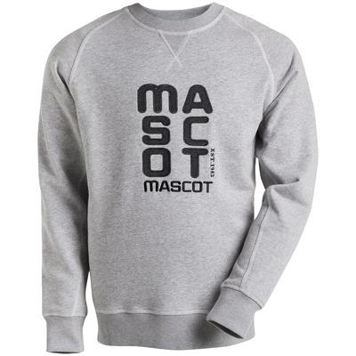 MASCOT® HARDWEAR - szary nakrapiany - Bluza z wyhaftowanym logo MASCOT, nowoczesny krój