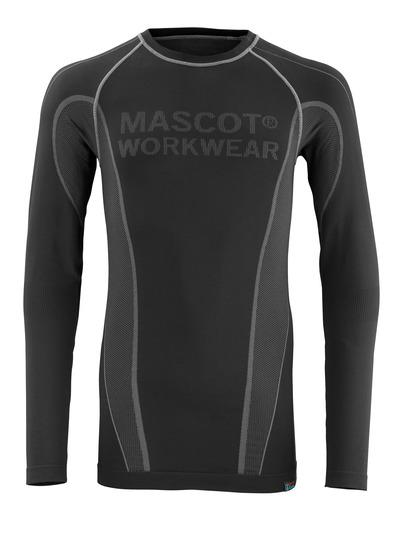 MASCOT® Hamar - czerń - Podkoszulek funkcjonalny, odprowadzający wilgoć, izolacyjny