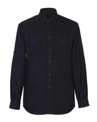 MASCOT® Hampton - ciemny granat - Koszula, nowoczesny krój