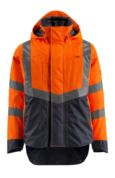 MASCOT® Harlow - pomarańcz hi-vis/ciemny granat - Kurtka membranowa, wodoszszelna, klasa 3
