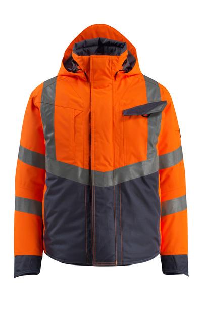 MASCOT® Hastings - pomarańcz hi-vis/ciemny granat - Kurtka zimowa, watowana, wodoszszelna, klasa 3