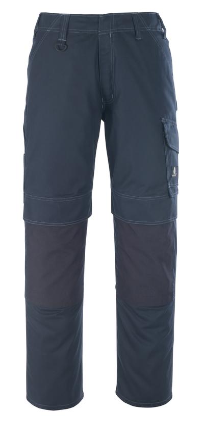 MASCOT® Houston - ciemny granat - Spodnie z kieszeniami na kolanach, niska waga