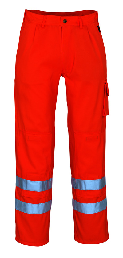 MASCOT® Iowa - pomarańcz hi-vis* - Spodnie z kieszeniami na kolanach