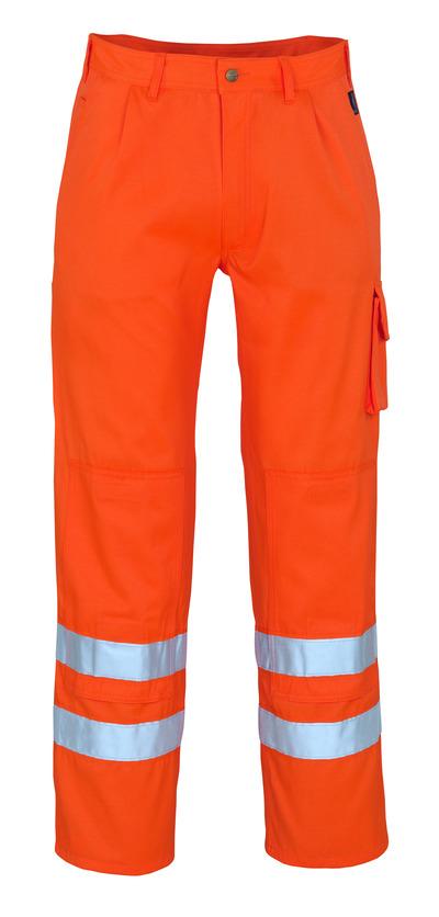 MASCOT® Iowa - pomarańcz hi-vis* - Spodnie z kieszeniami na kolanach, klasa 1/2