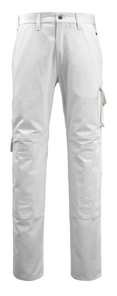 MACMICHAEL® Jardim - biel - Spodnie z kieszeniami na kolanach, bawełna