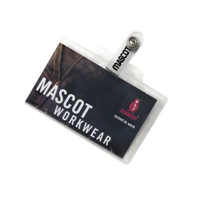 MASCOT® Kananga - transparentny - Uchwyt na identyfikator z mocnego plastiku