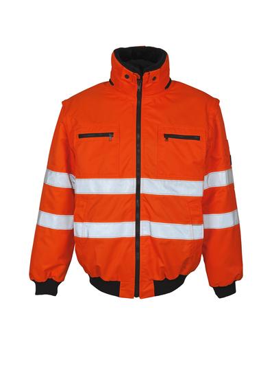 MASCOT® Kaprun - pomarańcz hi-vis  - Kurtka pilotka z odpinaną futrzaną podpinką, wodoodporna tkanina, klasa 3